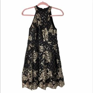 Honey and Rosie fit flare embroidered tulle dress
